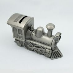 http://www.thingsengraved.ca/Product/pewter-train-bank/018406-1-4004