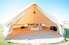 The 5m Diameter Protech Bell Tent is amazingly spacious and airy, ideal for family camping, luxurious glamping (glamorous camping) for couples, as a chill out area at an event or for a workshop. The central pole measures 3m tall allowing plenty of standing space, a huge circumference and a generous floor area. Our Protech model has been designed for the 'professional' user, those using their tents as accomodation, glamping companies, those wanting to live in their bell tents or longer pe...