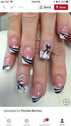 French Nails - French Nail Tip Ideas, French Nail Polish, French Tip Nail Designs French Tip Nail Designs, Classy Nail Designs, French Nail Art, Acrylic Nail Designs, Nail Art Designs, Acrylic Gel, Nails Design, Pedicure Designs, French Polish