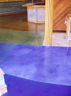 1000 Images About Blue Amp Green Stained Concrete Floors On