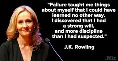 6 Totally Genius Quotes Every Female College Graduate Needs to Hear - J K Rowling on failure.