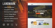 Download and review of Landmark - Construction WordPress Theme, one of the best Themeforest Corporative themes {Download & review at|Review and download at} {|-> }http://best-wordpress-theme.net/landmark-construction-download-review/