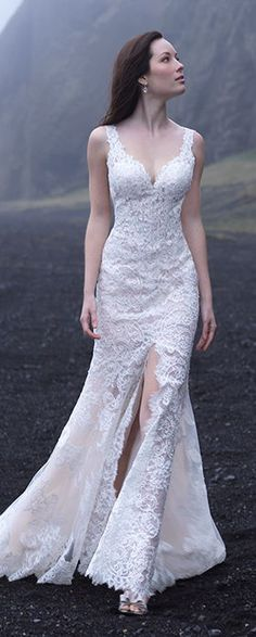 Lace Wedding Dress by Allure Romance #ad #weddingdress #bridalgown #weddinggown #bride #bridal #weddings