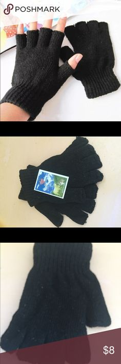 FINGERLESS GLOVES ⚡️SALE no OFFERS New w tags. Black.  I try to catch the color that best reflects color of item. There may be a slight color difference. BOUTIQUE ITEMS MAY OR MAY NOT HAVE A TAG, BUT ARE NEW SHIPPED FROM VENDOR. Accessories Gloves & Mittens