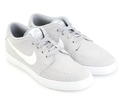 Suketo 2 Leather Shoes by Nike. Made from genuin eleather upper, with gray and white color combination, lace up, contrast logo accent, stitching details, rubber sole, perfect for everyday use and to complete your sneakers collection. http://www.zocko.com/z/JJ8a1