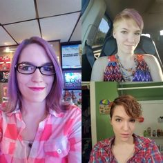 Before And After Pics Of Extreme Haircut Transformations - Allerecipe Cut My Hair, Her Hair, Pantene Beautiful Lengths, Short Hair Cuts, Short Hair Styles, Wigs For Cancer Patients, Before And After Haircut, Shave My Head, Hair Due