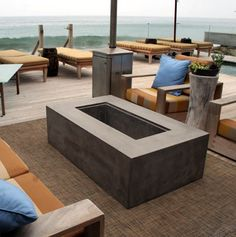 concrete fire pit / or spa tubs Paver Stone Patio, Bluestone Patio, Concrete Patio, Small Covered Patio, Covered Patio Design, Patio Furniture Makeover, Cheap Patio Furniture, Small Outdoor Patios, Outdoor Spaces