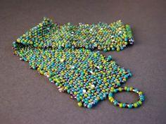 Peyote Stitch: 2 Drop Peyote Cuff Bracelet