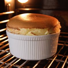 """Soufflé a L'orange (Cook Like a Pro: Fearless Food) - Ina Garten, """"Barefoot Contessa"""" on the Food Network. Cheese Souffle, Souffle Dish, Souffle Recipes, Just Desserts, Dessert Recipes, Dessert Dips, Unique Desserts, French Desserts, Health Desserts"""