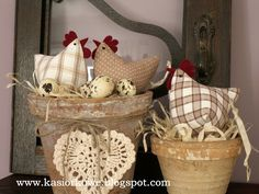kasiorkowe - materiałowe kury