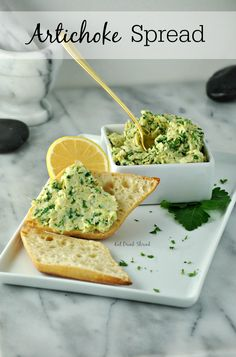 Vegan Artichoke spread with hearts of palm and kale!