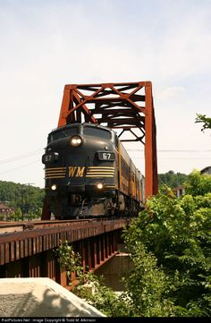 RailPictures.Net Photo: WVC #67 West Virginia Central Railroad EMD FP7 at Elkins, West Virginia by Todd M. Atkinson