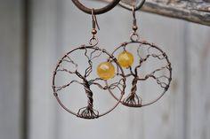 Tree of life Earrings by twistedjewelry.deviantart.com on @deviantART