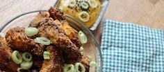 Alitas crujientes al horno con mostaza y miel