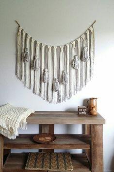 Yarn wall hanging/Large macrame wall by UpTheWallflower on Etsy