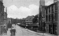 Peel Street, Partick 1900's. St Mary's on the right and West of Scotland cricket ground beyond.