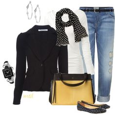 A fashion look from October 2012 featuring Fat Face t-shirts, Roberto Collina blazers and Current/Elliott jeans. Browse and shop related looks.