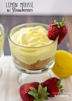 Love lemon?  Today, I'm sharing this super yummy recipe for Lemon Mousse with Strawberries.  Makes a perfect light dessert for Spring and bonus:  if you're eating low carb / sugar free it's the perfect sweet treat to help you stay on track! I sent my hubby to the store recently and one of the items on my ... Read More about Lemon Mousse w/ Strawberries