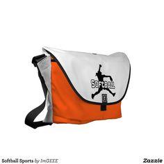 Softball Sports Messenger Bag