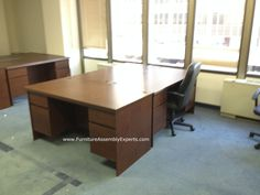 Ameriwood Westmont Collection Executive Desk assembled and installed in arlington VA by Furniture Assembly Experts LLC