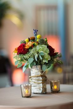 Wedding Centerpieces - Rustic Fall St. Petersburg Museum of Fine Arts Wedding - St. Petersburg Wedding Photographer Ware House Studios