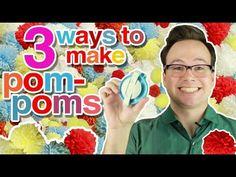 3 Easy Ways to Make Pom-Poms with Yarn - YouTube Fishing line to tie around center