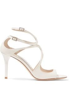 Jimmy Choo Ivette cut-out patent leather sandals