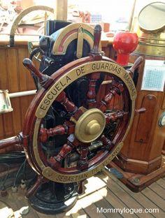 Elcano ship's wheel.