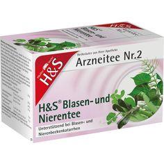 H&S Blasentee und Nierentee in Beuteln:   Packungsinhalt: 20 St Filterbeutel PZN: 00192761 Hersteller: H&S Tee - Gesellschaft mbH & Co.…