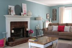 Behr - Venus Teal  Living/Dining Room?  I think it might be a bit too dark, but I can't seem the find the right colour in Behr paints..