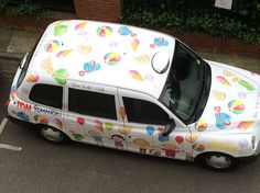 Livery that we printed for Rays Of Sunshine charity drive. Printed on HP Latex3000. #print #livery