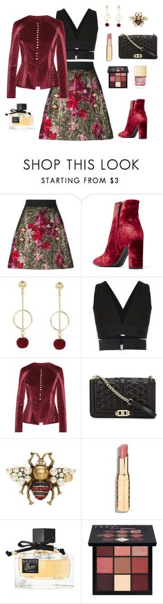 """""""Her Highness"""" by ravenclaw-phoenix ❤ liked on Polyvore featuring Dolce&Gabbana, Yves Saint Laurent, Osklen, Altuzarra, Rebecca Minkoff, Gucci and Huda Beauty"""