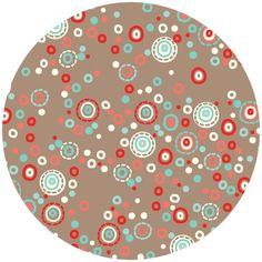Polka dot fabric to match tickertape owl fabric
