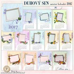 Kalendář 2017 šablona