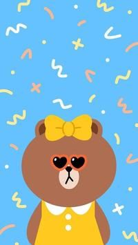 BROWN PIC is where you can find all the character GIFs, pics and free wallpapers of LINE friends. Come and meet Brown, Cony, Choco, Sally and other friends! Lines Wallpaper, Couple Wallpaper, Girl Wallpaper, Brown Wallpaper, Line Cony, Funny Phone Wallpaper, Wallpaper Desktop, Character Wallpaper, Line Friends