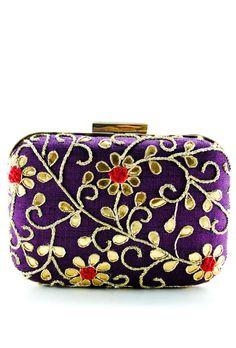 Purple Samsara Gotta Patti Clutch Designer Clutch, Designer Handbags, Hiking Bag, Bridal Clutch, Handmade Purses, All Things Purple, Cute Purses, Vintage Purses, Bag Sale