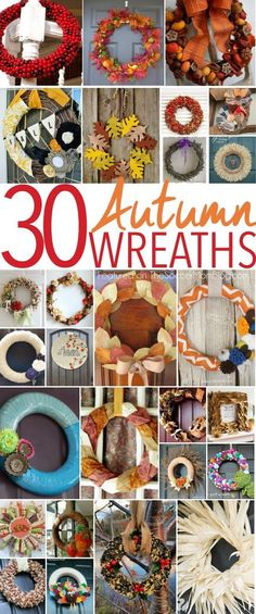 A collection of 30 gorgeous Fall wreaths from the most talented crafting & home bloggers on the web! Perfect for your Autumn decor or…