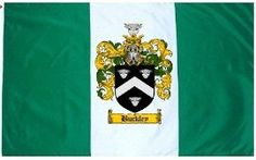 $49.99 Buckley Family Crest / Coat of Arms Flag. Large 3 ft. x 5 ft. polyester flags.