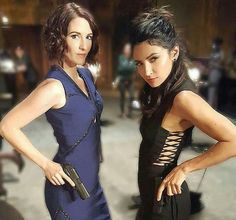 Alex Danvers & Maggie Sawyer en acción #Supergirl #Sanvers