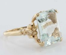 Ruby Lane Aquamarine ring.