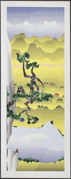 Roy Lichtenstein . landscape with poet, 1996