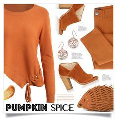 """Monochrome: Pumpkin Spice"" by mahafromkailash ❤ liked on Polyvore featuring rag & bone"