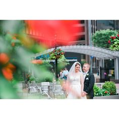 Wedding pictures in Pittsburghs Cultural District.