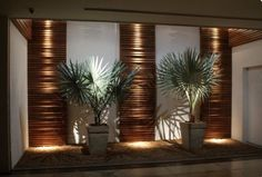Courtyard feature with timber highlights and night time lighting. Great feature entrance to your home