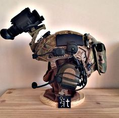 get a helmet! Cool Tactical Gear, Tactical Wear, Tactical Helmet, Airsoft Helmet, Tactical Equipment, Cool Gear, Combat Gear, Combat Helmet, Soldier Helmet