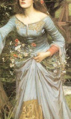 Ophelia (details) - John William Waterhouse, 1894 and 1910 John William Waterhouse, Images Esthétiques, Pre Raphaelite Paintings, Fantasy Magic, Robes Vintage, Classical Art, Renaissance Art, Art Plastique, Female Art