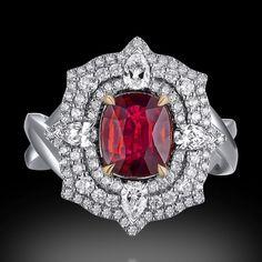 "M Thouvenot. Via JEWELLERY HISTORIAN Magazine (@jewellery_historian) on Instagram: ""Jewellery is art @mthouvenot #HauteJoaillerie #highjewelry #mthouvenot #ruby #rubyring"