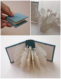 Pocket Garden miniature book by printmaker Kyoko Imazu (love the shadows)
