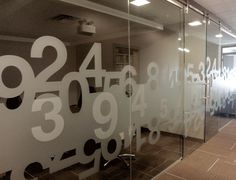 Numbers. Graphic window film for the office http://bit.ly/19mMXiB
