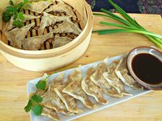 Steamed Dumplings Made Healthier: http://blog.foodnetwork.com/healthyeats/2014/01/05/steamed-dumplings-made-healthier/